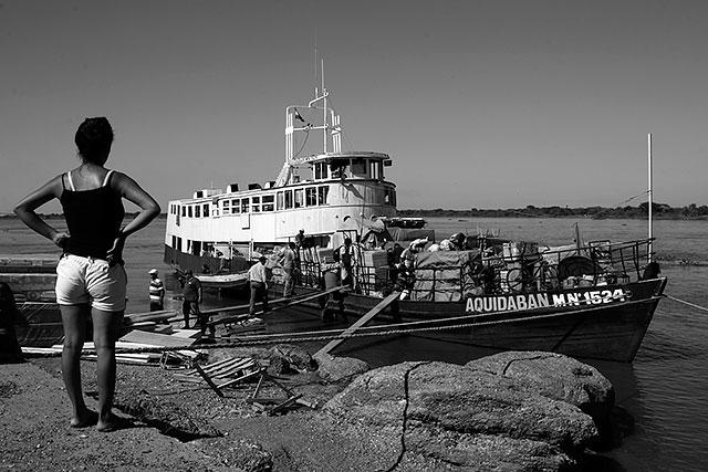 Fartyget Aquibadán lastas i staden Concepción.